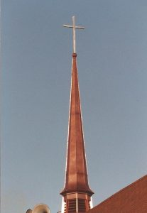 Copper Steeple With Stainless Steel Cross