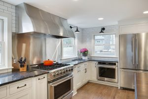 Stainless Steel Hood with Rivets and Polished Straps