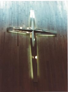 Brass Cross With Back Lighting