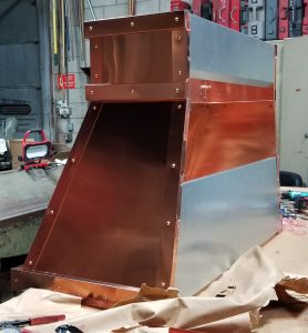 Raw Copper Hood with Rivets