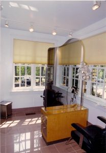 Brass, Mirror and Steel display
