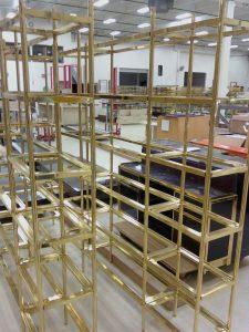 Custom Brass Shelfs