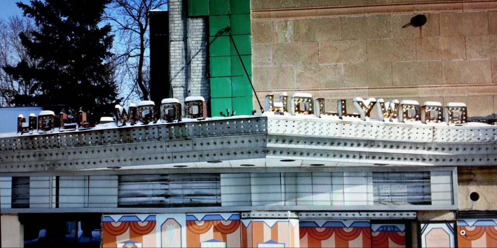 Hollywood Theater Sign Work